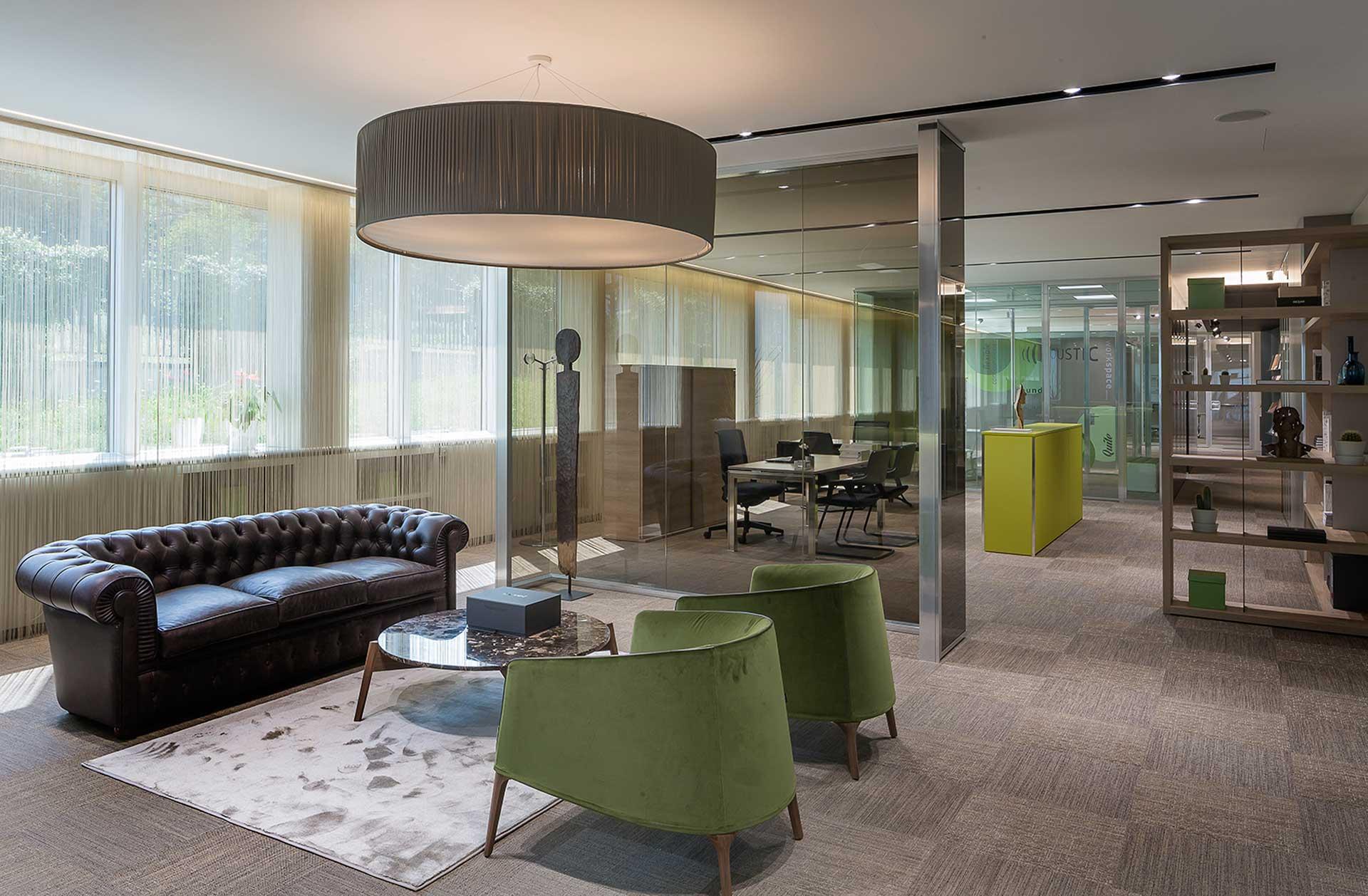 Welcome area LevelHUB Smart Office